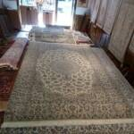 Esfahani Persian Rug Gallery  ORIGIN: IRAN/ STYLE: NAEIN / DESIGN: MEDALION   PILE: SILK & FINE WOOL / FOUNDATION: COTTON  LENGTH FT: 9.91/ WIDTH FT: 6.66/ SQF: 65.99  LENGTH M: 3.02 / WIDTH M: 2.03/ SQM: 6.13  APPROX AGE: NEW/ APPROX KPSI: 250  INVENT # 1010