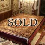 Esfahani Persian Rug Gallery  ORIGIN: IRAN/ STYLE: HERIZ / DESIGN: GEOMETRIC  PILE: WOOL / FOUNDATION: COTTON  LENGTH FT: 11.38/ WIDTH FT: 8.27/ SQF: 94.12  LENGTH M: 3.47 / WIDTH M: 2.52/ SQM: 8.74  APPROX AGE: OVER 50 YEARS / APPROX KPSI: 90  INVENT # 1099