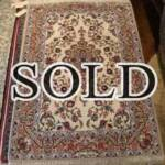 Esfahani Persian Rug Gallery  ORIGIN: IRAN/ STYLE: ISFAHAN / DESIGN: MEDALION  PILE: FINE WOOL & SILK / FOUNDATION: SILK  LENGTH FT: 5.71/ WIDTH FT: 3.51/ SQF: 20.04  LENGTH M: 1.74 / WIDTH M: 1.07/ SQM: 1.86  APPROX AGE: OVER 15 YEARS NEW / APPROX KPSI: 450  INVENT # 1107