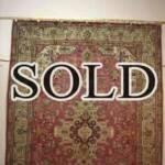 Esfahani Persian Rug Gallery  ORIGIN: IRAN/ STYLE: TABRIZ / DESIGN: MEDALION  PILE: WOOL / FOUNDATION: COTTON  LENGTH FT: 9.84/ WIDTH FT: 6.82/ SQF: 67.17  LENGTH M: 3.00 / WIDTH M: 2.08/ SQM: 6.24  APPROX AGE: OVER 40 YEARS / APPROX KPSI: 250  INVENT # 1111