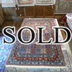 Esfahani Persian Rug Gallery  ORIGIN: IRAN/ STYLE: BAKHTIARI / DESIGN: 4 SEASONS  PILE: WOOL / FOUNDATION: COTTON  LENGTH FT: 8.07/ WIDTH FT: 4.82/ SQF: 38.92  LENGTH M: 2.46 / WIDTH M: 1.47/ SQM: 3.62  APPROX AGE: OVER 10 YEARS / APPROX KPSI: 150  INVENT # 1013