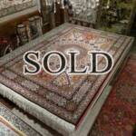Esfahani Persian Rug Gallery  Origin: IRAN/ STYLE: TABRIZ / DESIGN: GEOMETRIC  Pile: FINE WOOL / FOUNDATION: COTTON  Length FT: 10.37/ WIDTH FT: 6.86/ SQF: 71.09  Length M: 3.16 / WIDTH M: 2.09/ SQM: 6.60  Approx age: NEW / APPROX KPSI: 300  Invent # 1150