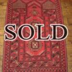 Esfahani Persian Rug Gallery  ORIGIN: IRAN/ STYLE: AFHGAN / DESIGN: MEDALION  PILE: WOOL/ FOUNDATION: COTTON  LENGTH FT: 3.71/ WIDTH FT: 2.49/ SQF: 9.24  LENGTH M: 1.13 / WIDTH M: 0.76/ SQM: 0.86  APPROX AGE: OVER 35 YEARS / APPROX KPSI: 250  INVENT # 1039