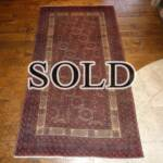 Esfahani Persian Rug Gallery  ORIGIN: IRAN/ STYLE: BALUCHI/ DESIGN: TRIBAL  PILE: WOOL / FOUNDATION: WOOL  LENGTH FT: 6.36/ WIDTH FT: 3.38/ SQF: 21.51  LENGTH M: 1.94 / WIDTH M: 1.03 SQM: 2.00  APPROX AGE: OVER 25 YEARS / APPROX KPSI: 100  INVENT # 1374