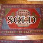 Esfahani Persian Rug Gallery  ORIGIN: IRAN/ STYLE: GHUCHAN/ DESIGN: TRIBAL  PILE: WOOL / FOUNDATION: WOOL  LENGTH FT: 5.71/ WIDTH FT: 4.17/ SQF: 23.92  LENGTH M: 1.75 / WIDTH M: 1.27 SQM: 2.22  APPROX AGE: OVER 25 YEARS / APPROX KPSI: 100  INVENT # 1384