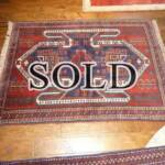 Esfahani Persian Rug Gallery  ORIGIN: IRAN/ STYLE: GHUCHAN/ DESIGN: TRIBAL  PILE: WOOL / FOUNDATION: WOOL  LENGTH FT: 5.54/ WIDTH FT: 4.17/ SQF: 23.10  LENGTH M: 1.69 / WIDTH M: 1.27 SQM: 2.15  APPROX AGE: OVER 25 YEARS / APPROX KPSI: 100  INVENT # 1388