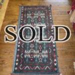 Esfahani Persian Rug Gallery  ORIGIN: IRAN/ STYLE: BALUCHI/ DESIGN: TRIBAL  PILE: WOOL / FOUNDATION: WOOL  LENGTH FT: 3.94/ WIDTH FT: 1.84/ SQF: 7.23  LENGTH M: 1.20 / WIDTH M: 0.56 SQM: 0.67  APPROX AGE: OVER 25 YEARS / APPROX KPSI: 100  INVENT # 1350