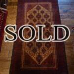 Esfahani Persian Rug Gallery  ORIGIN: IRAN/ STYLE: BALUCHI/ DESIGN: TRIBAL  PILE: WOOL / FOUNDATION: WOOL  LENGTH FT: 5.48/ WIDTH FT: 2.92/ SQF: 16.00  LENGTH M: 1.67 / WIDTH M: 0.89 SQM: 1.49  APPROX AGE: OVER 25 YEARS / APPROX KPSI: 100  INVENT # 1353