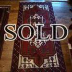 Esfahani Persian Rug Gallery  ORIGIN: IRAN/ STYLE: BALUCHI/ DESIGN: TRIBAL  PILE: WOOL / FOUNDATION: WOOL  LENGTH FT: 6.27/ WIDTH FT: 3.12/ SQF: 19.53  LENGTH M: 1.91 / WIDTH M: 0.95 SQM: 1.81  APPROX AGE: OVER 25 YEARS / APPROX KPSI: 100  INVENT # 1355