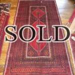 Esfahani Persian Rug Gallery  ORIGIN: IRAN/ STYLE: BALUCHI/ DESIGN: TRIBAL  PILE: WOOL / FOUNDATION: WOOL  LENGTH FT: 6.79/ WIDTH FT: 3.58/ SQF: 24.29  LENGTH M: 2.07 / WIDTH M: 1.09 SQM: 2.26  APPROX AGE: OVER 25 YEARS / APPROX KPSI: 100  INVENT # 1357