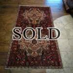 Esfahani Persian Rug Gallery  ORIGIN: IRAN/ STYLE: BALUCHI/ DESIGN: TRIBAL  PILE: WOOL / FOUNDATION: WOOL  LENGTH FT: 6.17/ WIDTH FT: 3.31/ SQF: 20.44  LENGTH M: 1.88 / WIDTH M: 1.01 SQM: 1.90  APPROX AGE: OVER 25 YEARS / APPROX KPSI: 100  INVENT # 1367