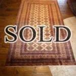 Esfahani Persian Rug Gallery  ORIGIN: IRAN/ STYLE: BALUCHI/ DESIGN: TRIBAL  PILE: WOOL / FOUNDATION: WOOL  LENGTH FT: 7.71/ WIDTH FT: 4.30/ SQF: 33.14  LENGTH M: 2.35 / WIDTH M: 1.31 SQM: 3.08  APPROX AGE: OVER 25 YEARS / APPROX KPSI: 100  INVENT # 1368